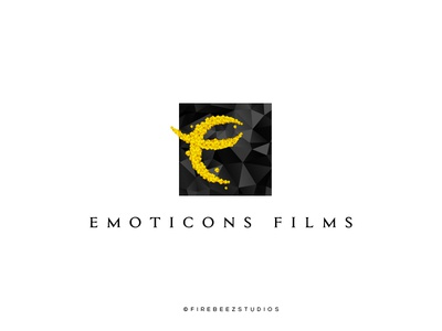 Emoticons Films Logo Design branding logo illustrator concept blackonewhitegk firebeez