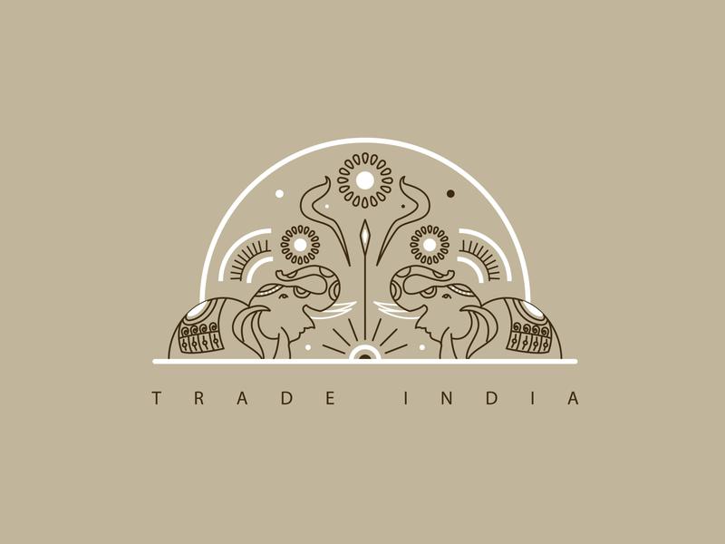 Trade India Icon Design trading icon tradeindiaicon indianart indian india vector branding poster design art illustrator concept illustration blackonewhitegk firebeez