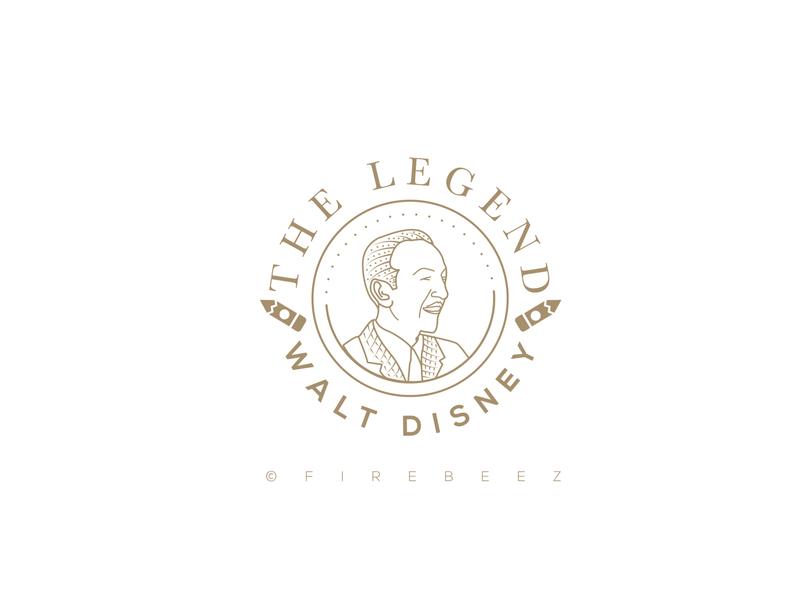 Walt Disney Fan Made logo branding disneyland disney waltdisney logo art design illustrator concept illustration blackonewhitegk firebeez