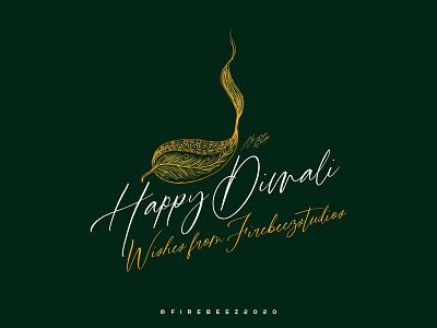 Diwali Poster 2020 tamil tamilnadu india indian lamp green vector photoshop poster design art illustration concept blackonewhitegk firebeez