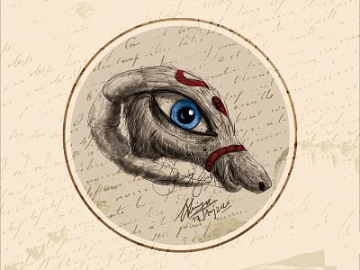 Lady Goat cc photoshop art concept blackonewhitegk firebeez