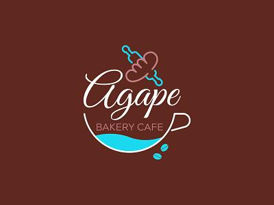 Agape Bakery Cafe Logo Design bakerylogo cafe cafelogo logo branding design photoshop illustrator illustration blackonewhitegk firebeez