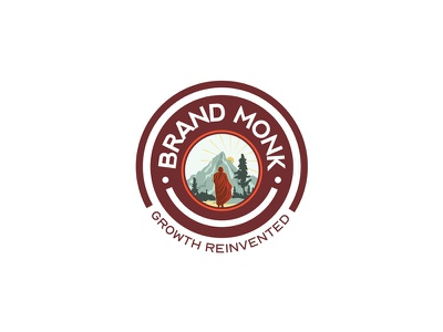 Brand Monk Logo Design budha monk monklogo logo branding vector design illustrator concept illustration blackonewhitegk firebeez