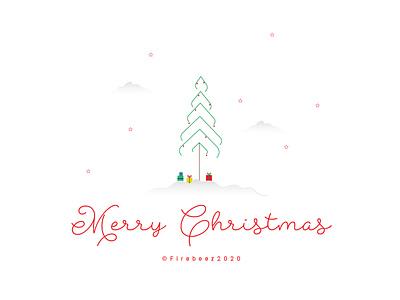 Christmas 2020 minimaldesign minimalism minimalist minimal vector poster concept design illustrator art blackonewhitegk illustration firebeez