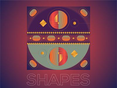 Gradient shape illustration - Version 1 gradientart design art illustrator concept illustration blackonewhitegk firebeez