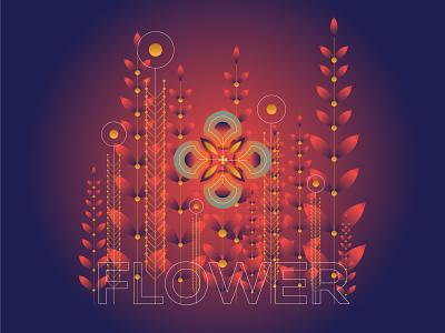 Gradient Flower illustration gradientillustration gradientart gradient design art illustrator concept illustration blackonewhitegk firebeez