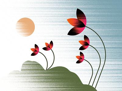 Gradient Flower Illustration graphic design gradientillustration gradientart design art illustrator concept illustration blackonewhitegk firebeez