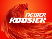 Fighter Rooster Illustration for apparel design