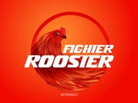 Fighter Rooster Illustration for apparel design poster