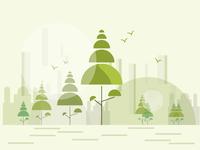 tree temple illustration