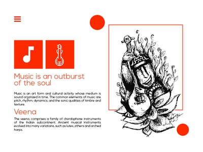 Music - Playing Veena Instrument concept