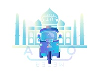 Meter Auto concept Gradient Illustration