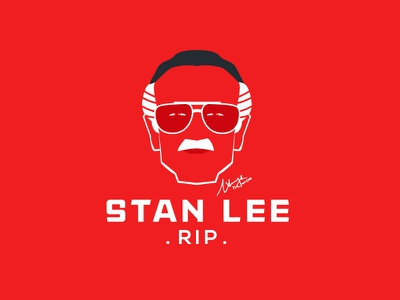 "The King of the Comics ""Stan Lee "" RIP poster art minimal concept firebeez blackonewhitegk illusion illustrator marvel comic ironman spiderman comics rip stanlee"
