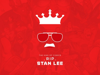 """The King of the Comics """"Stan Lee """" RIP Minimal Poster"""
