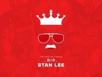 "The King of the Comics ""Stan Lee "" RIP Minimal Poster"