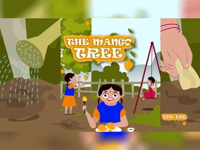 The Mango Tree Concept Illustration characterdesign kidsdrawing kids book vector design art illustrator concept illustration blackonewhitegk firebeez