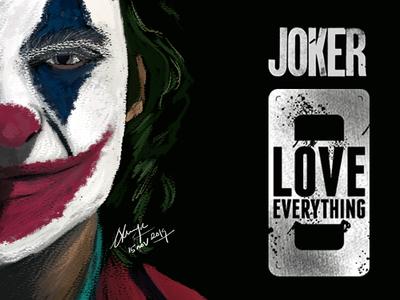 Joker Fan Made Digital Art fanmadeart fanart fanmade joker cc photoshop poster concept illustration blackonewhitegk firebeez