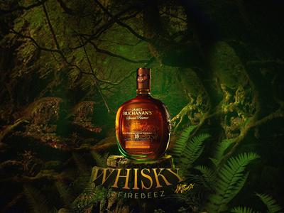 Whisky Concept Retouching Photo Manipulation wishky manipulation photomanipulation photoshop poster art concept blackonewhitegk firebeez