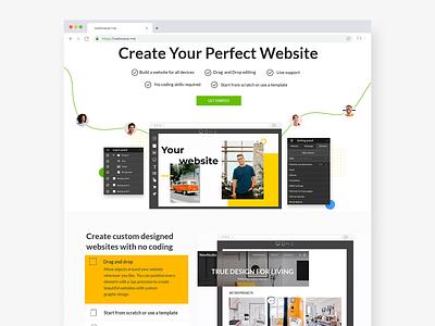 White-labeled website builder nocode website concept website design builder webdesign