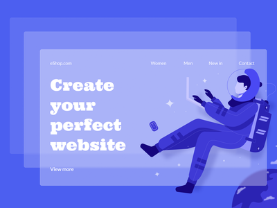 Animations on the website - WebWave features features ui nocode website builder illustration glassmorphism animation webdesign