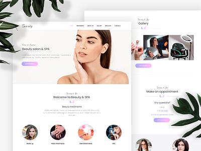 Beauty Salon - Responsive website concept responsive design beauty salon beauty template design template nocode website builder webdesign