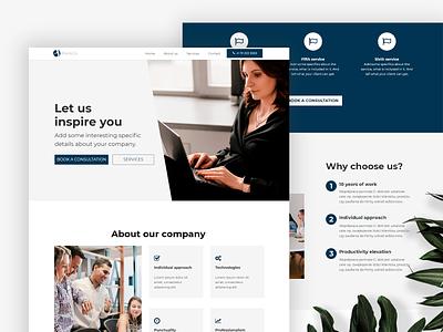 Agency and business Landing Page agency landing page webwave nocode website design website builder template business website agency website