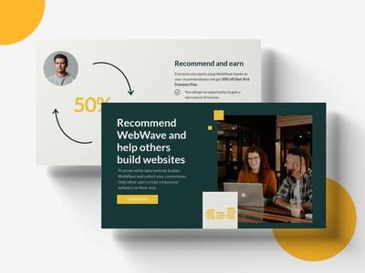 Affiliate Program Landing Page - Recommend and earn white label profit partnership affiliate affiliate program landing page design landing page website builder website recommend