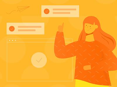 Illustration Character Use Website Template drag and drop pixel perfect illusrator illusration website template