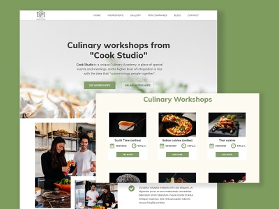 Culinary workshops Responsive website concept workshop culinary responsive design responsive webdesign website builder