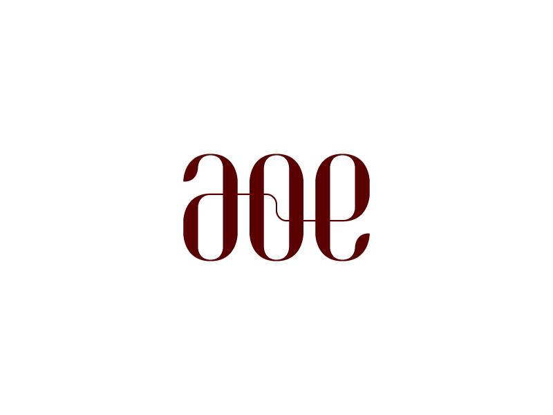 AOE logo typography logomark logo identity branding