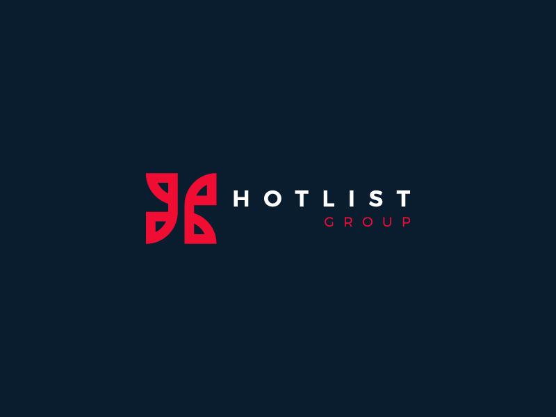 Hotlist Logo typography logomark logo identity branding
