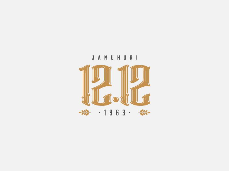 12.12 Beer typography logomark logo identity branding