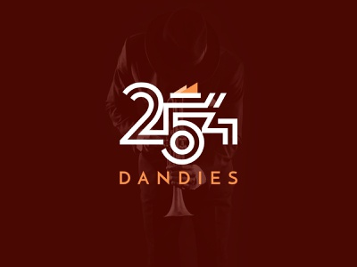 254 Dandies logo identity typography logomark branding