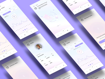 Carna | App Design interface statistic purple ux ui design graphic design application minimal inspiration design