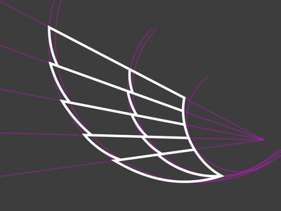 Wing Construction in progress flat line drawing illustration icon