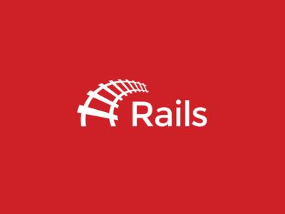 Ruby on Rails Logo Proposal montserrat rails red logo open source