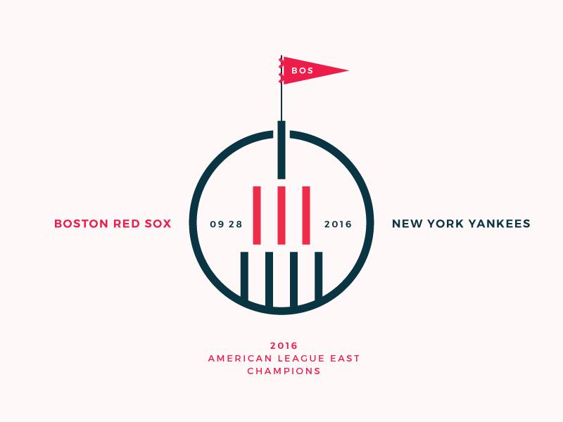 Red Sox Scores: September 28, 2016 logo minimalism minimal sports infographic data visualisation data viz data baseball