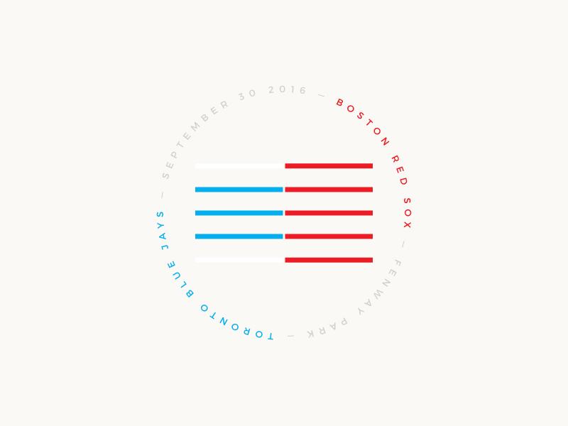 Red Sox Scores: September 30, 2016 logo minimalism minimal sports infographic data visualisation data viz data baseball