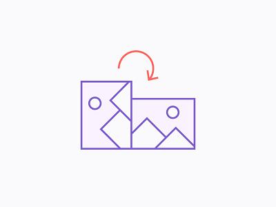 Orientation Correction illustration icon