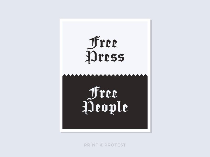 Print & Protest No. 22 blackletter sign resist protest print poster politics