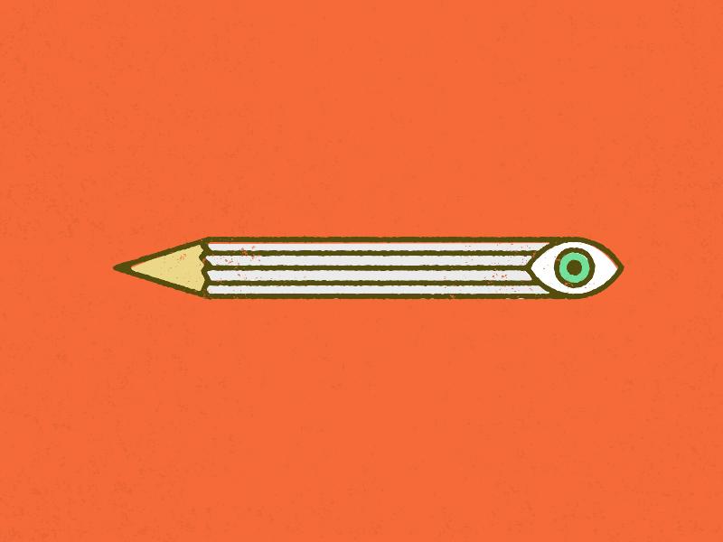 Penceyeil huh pencil eye illustration