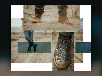 Style grid art direction website ui leather yo product ecommerce boots