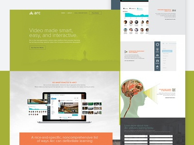 Arc homepage instructure homepage ui website arc online video platform software marketing site