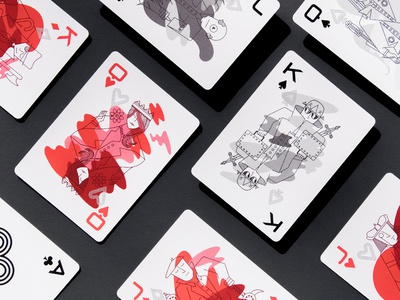 InstructureCon 0017 Playing Cards blackjack poker joker ace queen king packaging branding deck playing cards illustration