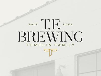 TF Brewing craft beer typography art direction logo branding