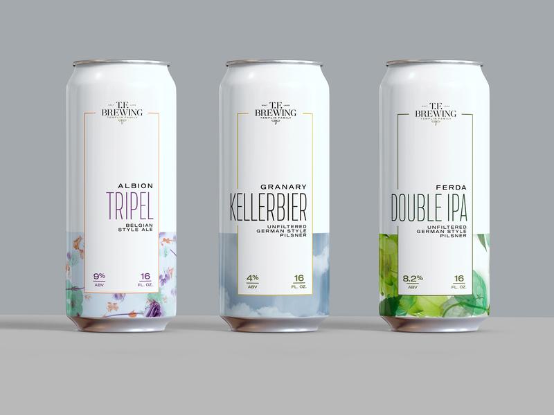 TF Brewing - Can Design 2 design beer typography printable craft beer branding beer can design