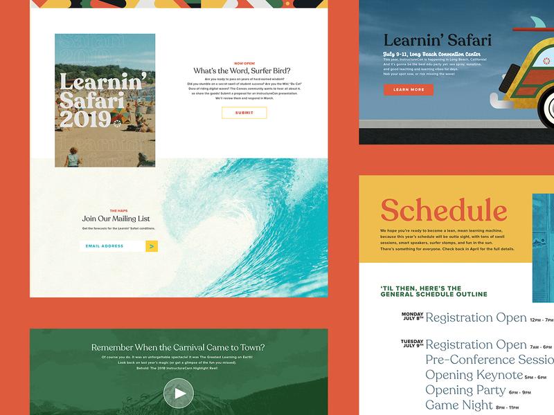 InstructureCon 2019 Website design ui typography illustration branding web design website