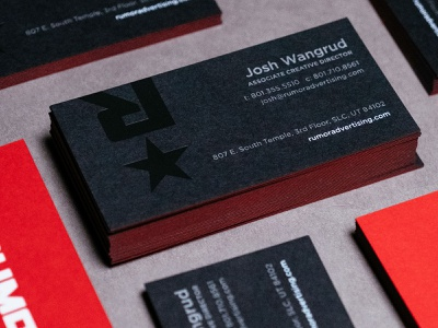 Rumor Business Cards duplex paper foil print design design branding business card print