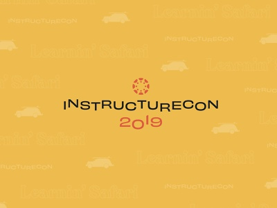 InstructureCon 2019 learning management platform learning management platform tech conference design typography logo brand identity conference design branding