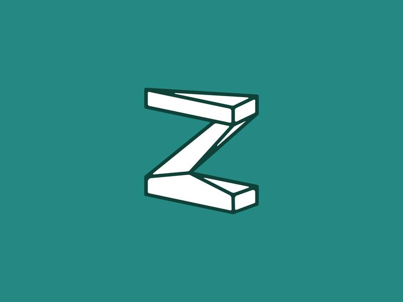Z Mark vector lettering saas design logo branding